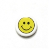 Bead Discs 19mm Happy Face Yellow